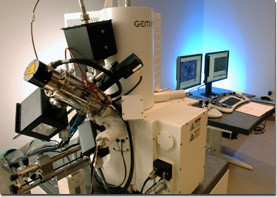 Zeiss scanning electron/ion microscope